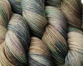 sw wool nylon sock yarn EURYDICE hand dyed fingering weight 3.5oz 460 yards