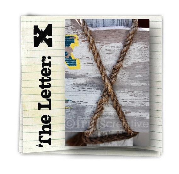 Letter X Alphabet Photography  COLOR 4x6 Photo Letter
