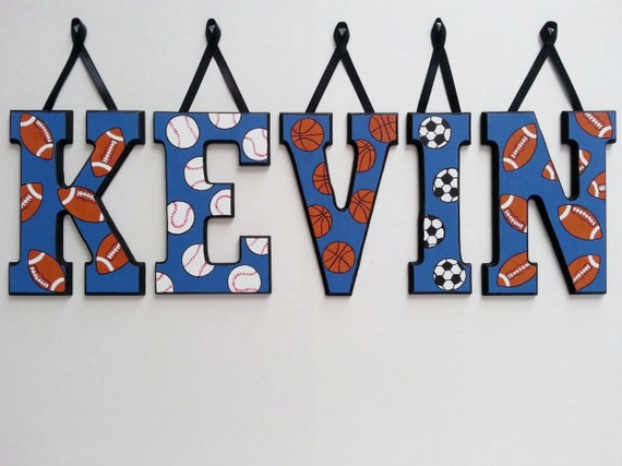 5 LETTERS Custom Wooden Hanging Block Wall By AlbonsBoutique