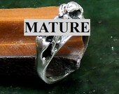 Mature Straight Oral  Ring  Solid Sterling Silver Free Domestic Shipping