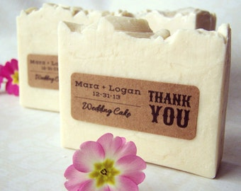 Wedding Favor Soaps - custom personalized rustic wedding party favors - 4oz