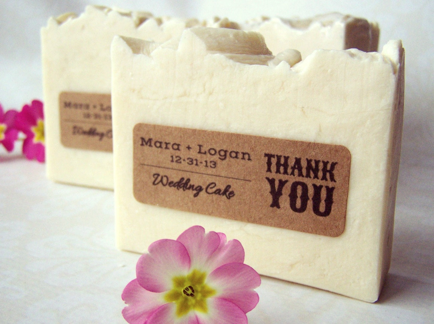 Wedding favor soaps custom personalized rustic wedding 2