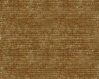 Soft and Durable Chenille Fabric for Upholstery- Drapery and Bedding - Resembles Crushed Velvet - Color:  Light Brown - per yard