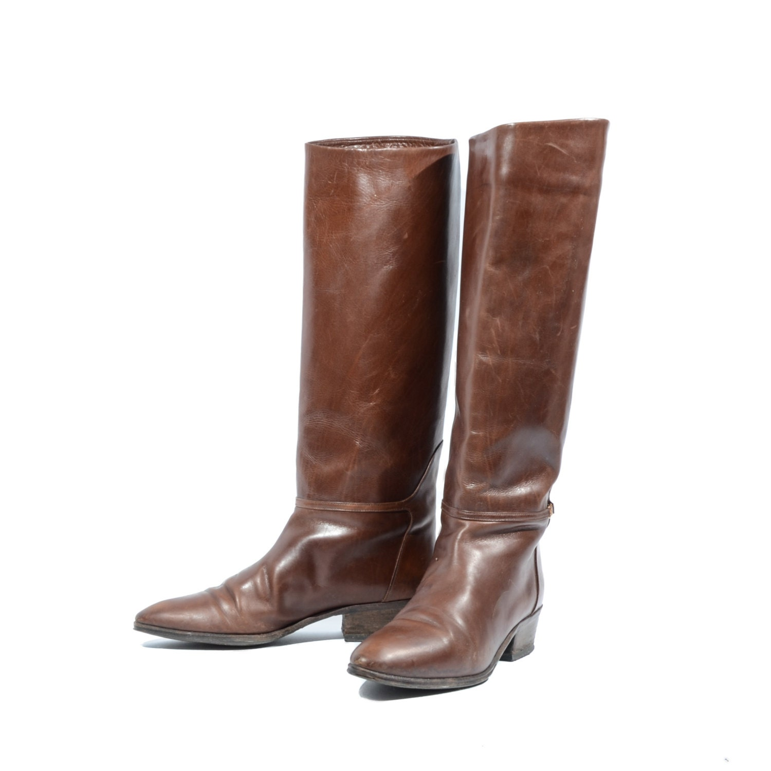 brown leather knee high boots equestrian fashion by
