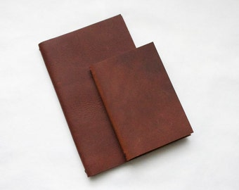 9x14 cm Leather Moleskine Notebook Cover with Optional Monogram- COVER ONLY