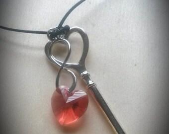 Key To My Heart Forever Swarovski Pendant Necklace