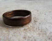 IN STOCK - Size 10.5 Handmade Bentwood Walnut Wood Ring