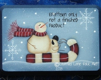 EPATTERN,#0011 candy cane express, painting pattern, paint your own, snowman, sheep, candy cane, digital download,snowman pattern, prim