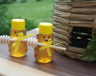 Bridal Shower Honey Favors, Winnie The Pooh Themed Baby Shower, 50 Mini Bears Freshly Filled