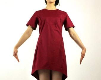 Burgundy tunic dress on sale gifts for her mini dress cotton dress dresses on sale high low dress high low tunic dress under 20 red dress