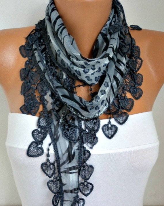 items similar to gray leopart scarf shawl scarf