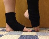 Yoga Socks in Acrylic Wool Blend in Black -- for Yoga, Dance, Pilates, Pedicures