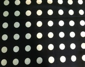 "Set of 2 Black and White Polka Dot Pillows, 24"" Euro Sham"