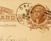 Vintage / Antique Post Card to Chas. N. Smith, Grand Lodge of Texas Freemason Dues (September 1, 1886) - Collectible, Paper Ephemera