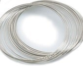 30 circles  of Necklace /choker Steel  Memory Wire 11.5cmm sliver Color, Wire: 0.6mm