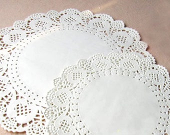 Round Paper Doilies 6.5 inch set of 100