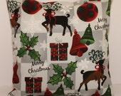12x12 Christmas Reindeer Decorative Pillow