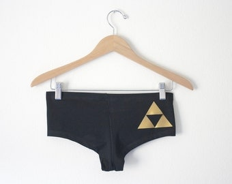 Triforce OR Hyrule Crest Undies/Booty Shorts -  Inspired by the Legend of Zelda - Made in USA by So Effing Cute