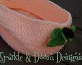 Peach Bowl Baby Photo Prop - Made to Order
