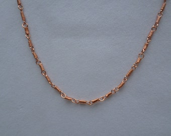 copper necklace, copper chain,  20 inch copper necklace