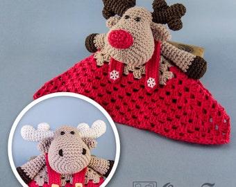 Reindeer and Moose Lovey / Security Blanket - PDF Crochet Pattern - Instant Download - Blankie Baby Blanket