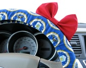 Steering Wheel Cover Bow, USAF Air Force Steering Wheel Cover with Red Bow BF11245