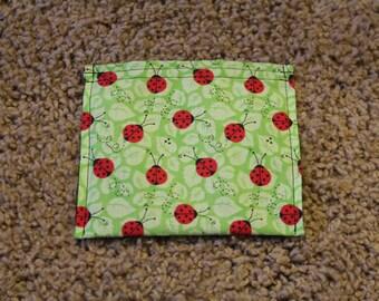 Reusable Snack Bag-Ladybug