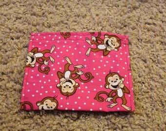 Reusable Sandwich Bag-Pink Laughing Monkeys