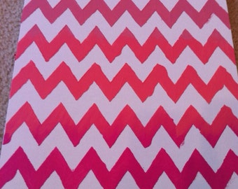 Ombré Chevron Canvas Painting - Choose your Color