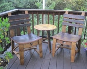 Dining Chair made from Wine Barrel Staves