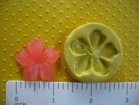 HAWAIIAN tropical FLOWER hibiscus mold mickey luau flexible silicone for fondant cake decorations resin candy wax or hard polymer clay mold