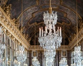 Paris Photography, Chandelier Hall of Mirrors, Versailles  - 5x7 print