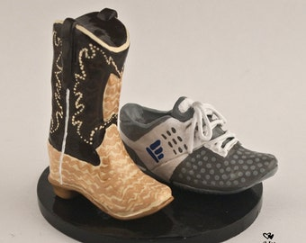 Shoe and Boot Wedding Cake Topper
