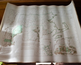 William Faden Map of Massachusetts, 1936 reproduction map