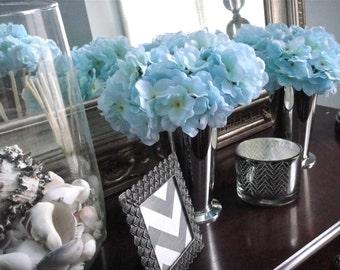 Hydrangea Centerpieces Home Decor,   Easter Centerpieces, Baby Shower Decor,  Choose Your Color, Flower Arrangements