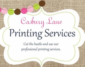 Casbury Lane Printing Services