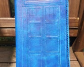 Tardis Leather Journal Cover - Made to Order