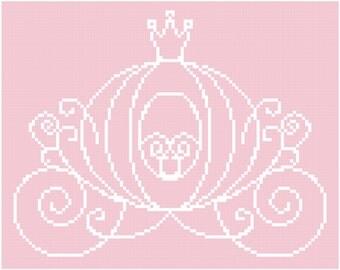 Princess Carriage Cross Stitch Pattern