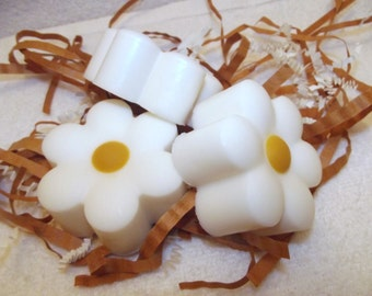 Yellow And White Daisy Soap Set, Flower Soap Favor, Wedding Favors, Daisy Guest Soap