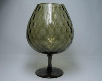 vintage 1950's snifter vase in gray , i would think made by EMPOLI  mid-century modern