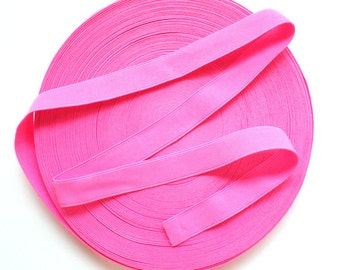 "1"" Neon Pink Stretch Elastic Band"