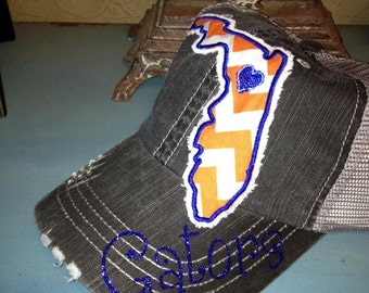 University of Florida Gators State Baseball Bling Ladies Womens Trucker Hat