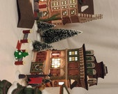 A Christmas Carol Dickens Village Holiday Decor Six Lighted Pieces