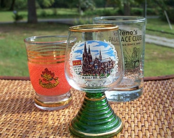 Shot Glass Liquour Serving Travel The World Shotglass Trio Germany Vancouver Reno