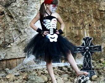 Skeleton tutu dress--customize if needed