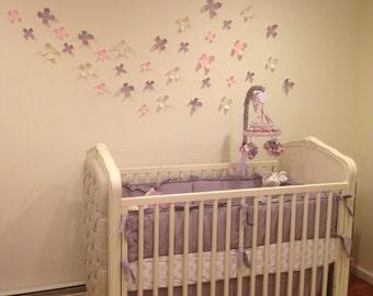 3D Wall Flowers - Set of 38 - Nursery Decor
