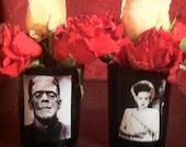 Frankenstein and Bride Centerpiece Votive Set