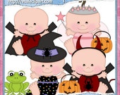 Halloween Babies 2 Clipart (Digital Download ZIP File)