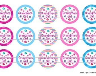 "15 Grandma's Girl 1 Images Digital Download for 1"" Bottle Caps (4x6)"