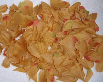 200 Silk Rose Petals GOLD COPPER GREEN Wedding Flower Decorations Party Decorations Bridal
